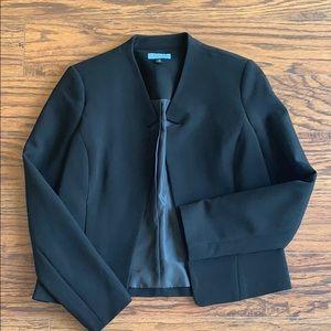 CYNTHIA ROWLEY black long sleeve lined jacket EUC